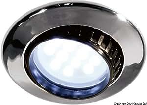 Spot BATSYSTEM Comet encastrable et orientable, Interrupteur: non, Finition: ABS chromé, Ø externe mm: 80, LED en substitution ampoule**: , Ampoule de rechange: , Variante: Version avec 9 LED SMD - 8/30 V - 2,4 W