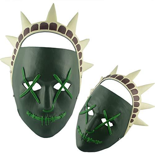 e Resin Mask Crafts Clear Plan kostenlose Göttin Maske Movie Surrounding Requisiten,Green-OneSize ()