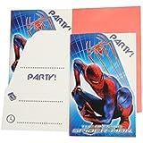 12 tlg. Set Einladungskarten Spiderman + Umschlag Party Einladung Karte Spider Man Spinne Umschläge