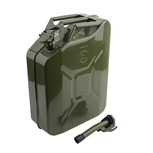 Cartkningts, tanica in metallo da 20litri con beccuccio, pratico contenitore portatile per carburante per la motocicletta, per l'olio, l'acqua o la benz
