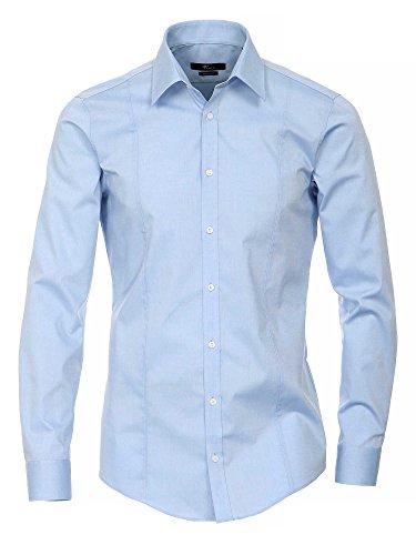 Venti Herren Businesshemd Blau (Blau 100)