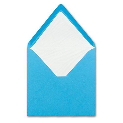 Umschläge 16 x 16 cm | 25 Stück | karibikblau