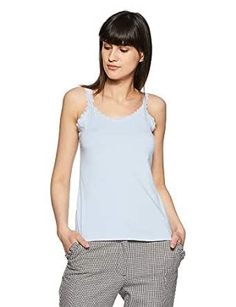VERO MODA Women's Regular Fit Cotton Top (10194221-1964006027_Chambray Blue_XS)