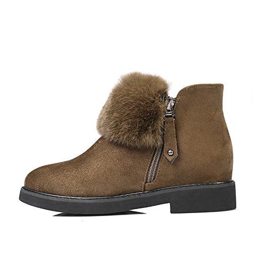 1acf985e54448 ... Hsxz Femmes Chaussures En Cuir Nubuck Automne Hiver Mode Bootie Bottes  Bottes À Talons Bottes Bout ...