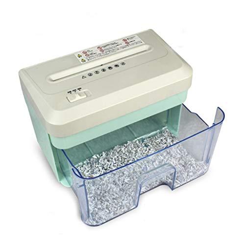 Mini-Desktop-Aktenvernichter, 30 Minuten ununterbrochen geschreddert, Micro Cut (2 * 10mm) mit 2.1L-Papierkorb -
