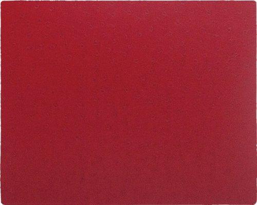 Caspari Mauspad, Straußenleder-Optik, Rot (Rote Straußenleder)