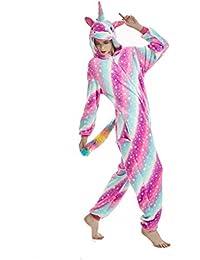 Licorne Adulte Flanelle Pyjama Combinaison Animaux Unicorn