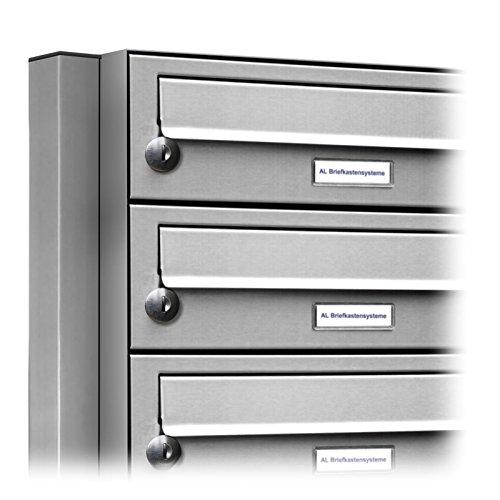AL Briefkastensysteme 6er Edelstahl Standbriefkasten rostfrei als 6 Fach Briefkastenanlage DIN A4 in Postkasten Briefkasten Design modern - 2