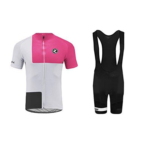 Uglyfrog Wear Damen Radtrikot Set Kurzarm Trikot Radfahren Latzhose Pro Team Radsportbekleidung Atmungsaktiv Fahrrad Shirt Quick Dry