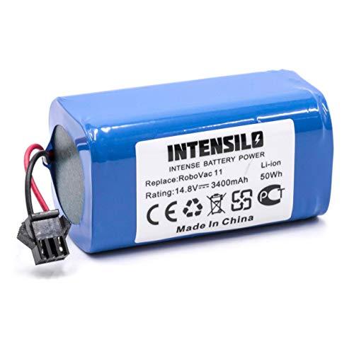 INTENSILO Li-Ion Akku 3400mAh (14.8V) für Saugroboter Home Cleaner Heimroboter Eufy Robovac 11, 11S