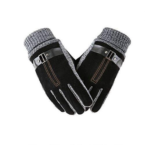 HONEY Herrenhandschuhe, Winterreifen Motorrad-Kunstlederhandschuhe, Warm Gepolsterte Fahrradhandschuhe Aus Baumwolle (Farbe : 5)
