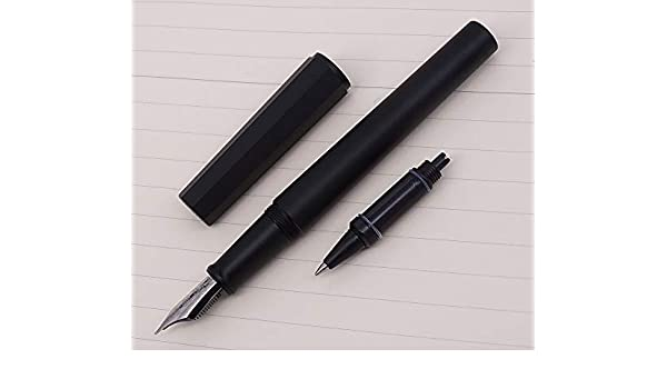 /Metallic mette in lega nera anodo ottagonale Moonman Penbbs 350/ /Penna stilografica con pennino fine rollerball penna stilografica set /& box/