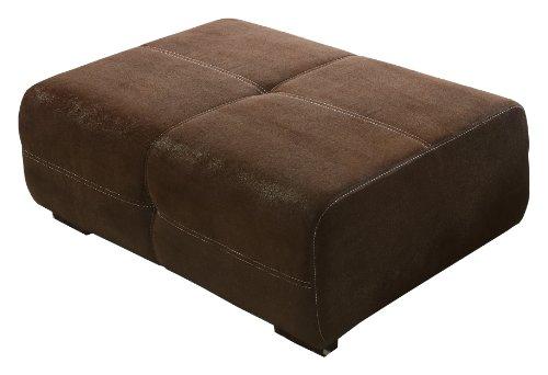 Mikrofaser-leder-sofa (Cavadore Polsterhocker Mavericco in Wildlederoptik / Sitzhocker / Sofahocker mit Steppung / Passend für Polsterserie Mavericco / Maße: 108 x 71 x 41 (B x H x T) / Farbe: Braun (Lederoptik))