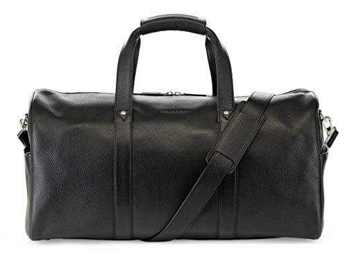 Safari Weekender (Urban Safari London Vantage Premium Grosse Leder Reisetasche / Leder Holdall / Leder Weekender Tasche / Luxus Leder Holdall / Handgepäck / Duffle Bag / Premium Qualitäts Leder (Schwarz))
