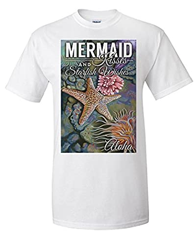 Aloha - Mermaid Kisses and Starfish Wishes - Tidepool (Premium T-Shirt)