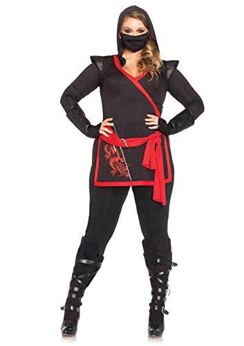 Frau Kostüm Assassine - Leg Avenue 85422X - Ninja Assassin Damen kostüm, Größe 1X-2X ( EUR 44-46)