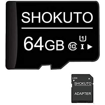 Tarjeta SD, 64 GB, Tarjeta de Memoria Micro SDHC (Tarjeta TF) + Adaptador SD, Clase 10, U1,