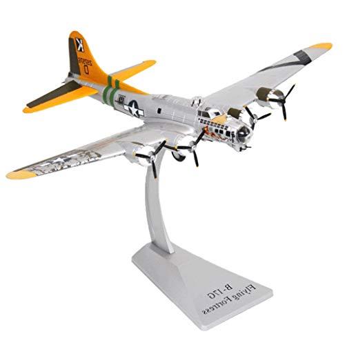 Hellery 1/72 B-17G Militär Flugzeuge Kampfflugzeug Modell mit Ständer - Silber (B-17 Modell)