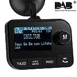 [Aktualisiert] DAB/DAB+ Autoradio Adapter, Blufree DAB Transmitter Digitalradio mit FM Sender, Bluetooth Freisprecheinrichtung, AUX Anschluss, 5V 3.1A USB Kfz Ladegerät, SD Karte Play,2.3