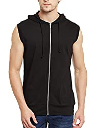 Gritstones Black Hooded T Vest GSCUTHD1348BLK_M