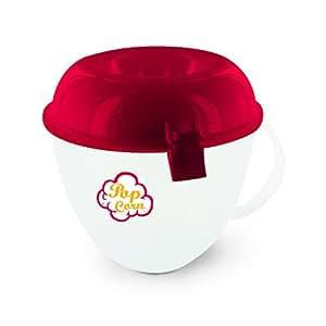 Cuisy KC2149 Cuit Pop Corn au Micro-Ondes Plastique Rouge/Orange 15 x 15 x 20 cm