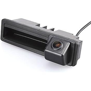 CCD Nachtsicht R/ückfahrkamera f/ür Audi A6L//Q7//A3 8P 8V//A4 B6 B7//A6L//8E //S5 Fahrzeugspezifische Einparkhilfe Kamera integriert in Kofferraum Griff