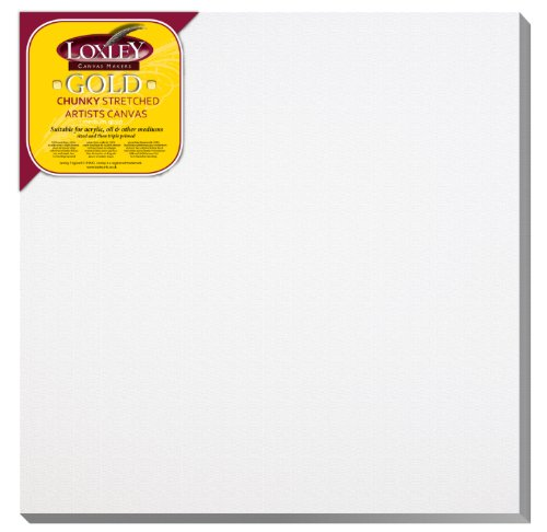 Loxley Gold LCC-1616 - Lienzo preestirado, color blanco