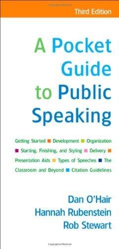 A Pocket Guide to Public Speaking by O'Hair, Dan, Rubenstein, Hannah, Stewart, Rob (2009) Spiral-bound
