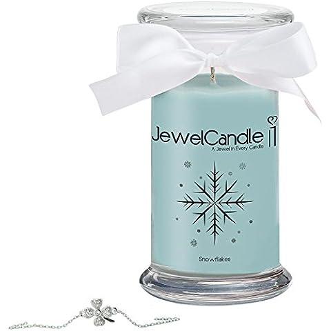 JewelCandle candela profumata – Snowflakes - Braccialetto Classic | sorpresa in argento dal valore fino a 250€