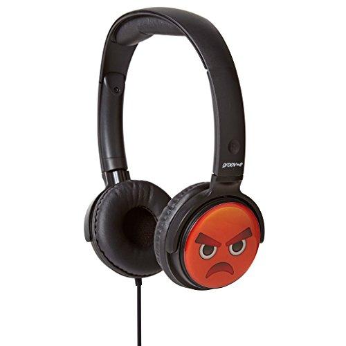 Groov-e EarMOJI Stereo Kopfhörer für Kinder / Kinder Jungen/Mädchen Über-Ohr Verdrahtete Kopfhörer / Wütendes Gesicht (Ic Stereo)
