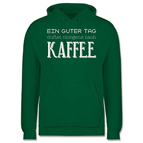 Küche - Ein guter Tag duftet morgens nach Kaffee - Männer Premium Kapuzenpullover / Hoodie Grün