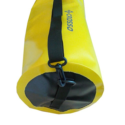 CROSSO CO1015 60L Transportbeutel wasserbeständig Fahrradtasche Gepäcktasche Gelb