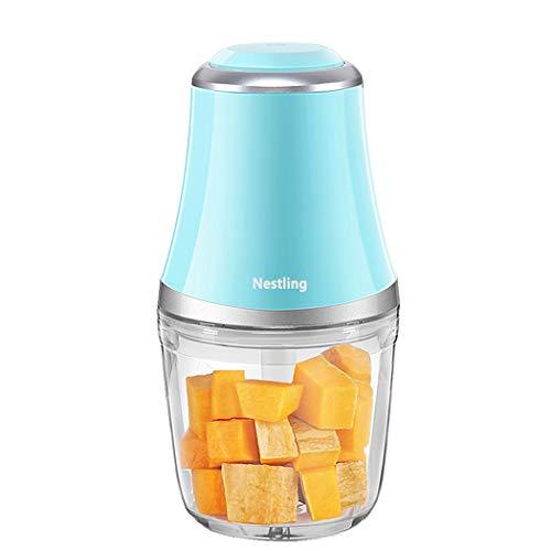 Nestling® 280W Elektro Zerkleinerer, Gemüsezerkleinerer, Küchenmaschine mit 3 scharfen Klingen für Fleisch, Obst und Nüsse mit 600 ml (Blau)