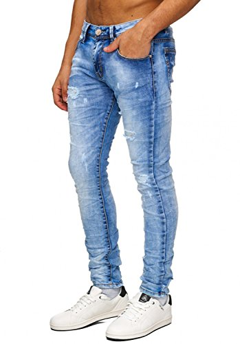Jeans Blackfoot ID1073 pour hommes (jambe droite) Blau
