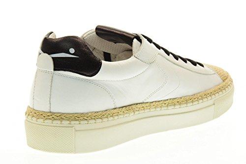 VOILE BLANCHE Chaussures homme baskets 0012011141.01.9108 AMALFI Blanc / noir