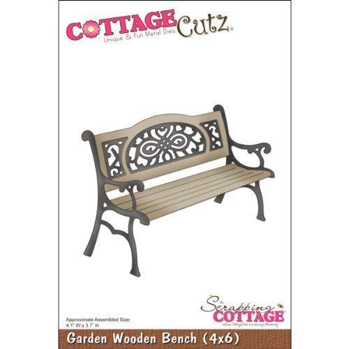 Galleria fotografica CottageCutz 6 pollici da giardino Panchina in legno Die tagli con schiuma