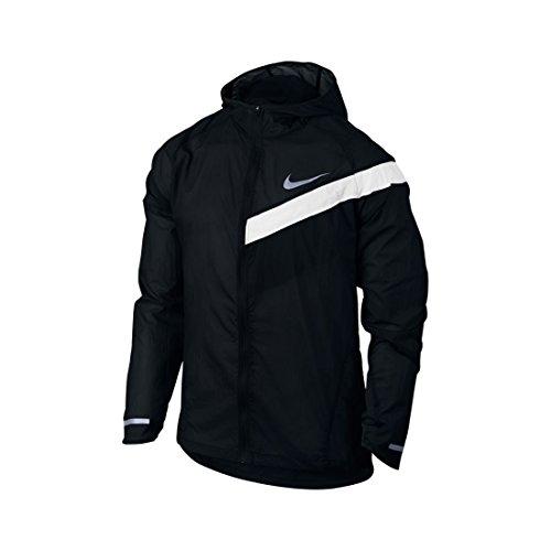 Nike Herren M NK IMP LT JKT HD Lauf-Regenjacke Mit Kapuze Schwarz/Weiß, S