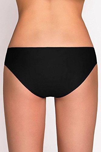 Vivisence 3000 Bikinislips Dame Bademode Musterlos Normaler Bund Setteil EU Schwarz