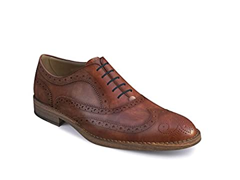DIS - Da Vinci - Men's Oxford Wing Brogue (Discolored Leather, 52.5)