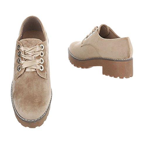 Sacré Avec Italdesign Femme Heel Block Chaussures Lacets Mocassins gqtFt61x