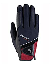 Roeckl Guantes GmbH & Co. Roeckl Guante Madrid Negro/Rojo, color blanco / rojo, tamaño 8,5
