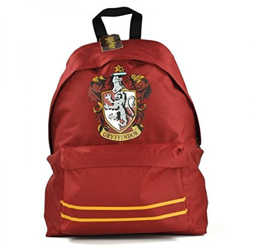 Price comparison product image Harry Potter Offical Gryffindor Crest Rucksack Backpack Bag Dark Red