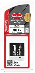 Hahnel HL-8L Li-ion Replacement Camera Battery for Canon NB-8L