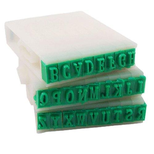 Globalflashdeal Abnehmbare 26 Buchstaben Englische Alphabet Kunststoff Stempel Set