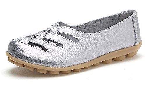 Mocassins Femme Plates Penny Loafers Cuir Loisir Casual Bateau Chaussures de Conduite de Ville Flats