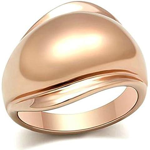 Anelli Di Fidanzamento Donna Placcato Oro Rosa Oro Smooth Ovale Cut Di (14k Diamante Tiffany Anello Setting)