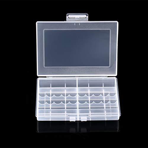 Transparente Hartplastik-Hülle LEISE 8002-Batterien Aufbewahrungsbox-Halter-Aufbewahrungsbox für 10 x AA oder 14 x AAA-Batterien