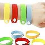 Yunt Lot de 6 pcs Bracelets Anti Moustiques Sûr pour Enfants et Adultes Couleur Aléatoire