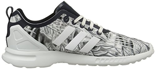 adidas Damen ZX Flux Smooth Sneaker, Rot Blanco - Blanc (Legend Ink S10/Legend Ink S10/Core White)