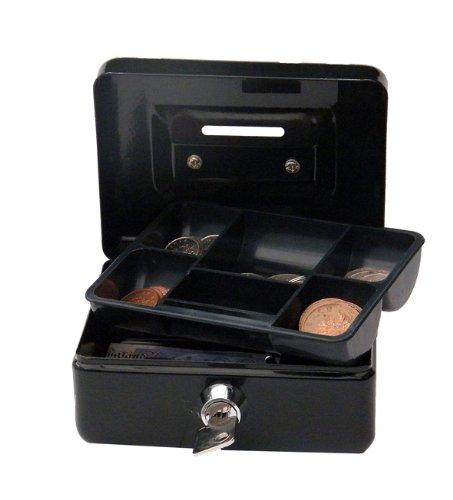 "Cash/Money Box 4"" (10cm) Cylinder Lock with 2 Keys - Black Test"